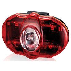 Свет задний INFINI VISTA 5LED 4 ф-ции, красн +батареи, фото 1