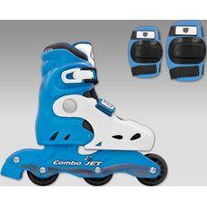 Ролики Спортивная Коллекция Combo Jet Blue (комплект шлем+защита+ролики), фото 1