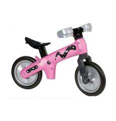 Велосипед (беговел) Bellelli B-Bip обучающий 2-5лет, пластмассовый, чёрный с розовыми колёсами (BIC-05), фото 1