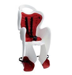 Сиденье заднее Bellelli Tiger Сlamp (на багажник) до 22кг, черно-белое с красной подкладкой (SAD-25-A4), фото 1