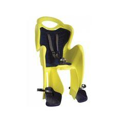 Сиденье заднее Bellelli Mr Fox Сlamp (на багажник) до 22кг, неоново-жёлтое с чёрной подкладкой (Hi Vision) (SAD-98-11), фото 1