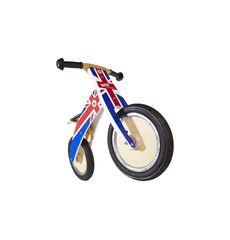 """Беговел 12"""" Kiddimoto Kurve деревянный, британский флаг (SKD-58-02), фото 1"""