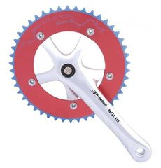 Комплект шатунов PROWHEEL SINGLE Solid-246T-F-1 46T 175mm red/silver (CHW-17-92), фото 1