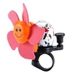 Звонок TW JH-401+1R (цветок),сигнал с ударным рычагом под большой палец, с пропеллером, розовый, фото 1