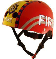 Шлем детский Kiddimoto пожарный, красный, фото 1