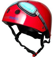 Шлем детский Kiddimoto очки пилота, красный, фото 1
