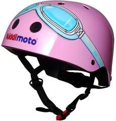 Шлем детский Kiddimoto очки пилота, розовый, фото 1