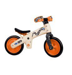 Велосипед (беговел) Bellelli B-Bip обучающий 2-5лет, пластмассовый, бежевый с оранжевыми колёсами (BIC-91), фото 1