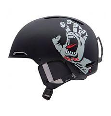 Шлем горнолыжный Giro Battle Black Santa Cruz Screaming Hand, фото 1