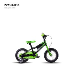 Велосипед Ghost Powerkid 12 black/green/white 2016, фото 1