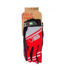 Перчатки Green Cycle NC-2378-2014 MTB с закрытыми пальцами красно-серые, фото 1