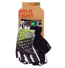 Перчатки Green Cycle NC-2303-2014 MTB Gel без пальцев черно-бело-зеленые, фото 1