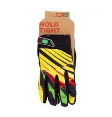 Перчатки Green Cycle NC-2369-2014 MTB с закрытыми пальцами желто-красные, фото 1