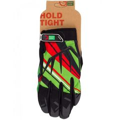 Перчатки Green Cycle NC-2361-2014 MTB с закрытыми пальцами черно-красно-зеленый, фото 1
