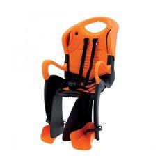 Сиденье заднее Bellelli Tiger Standart B-fix до 22кг, чёрно-оранжевое с оранжевой подкладкой (SAD-40-50), фото 1
