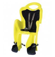 Сиденье заднее Bellelli Mr Fox Relax B-fix до 22кг, неоново-жёлтое с чёрной подкладкой (Hi Vision) (SAD-92-13), фото 1