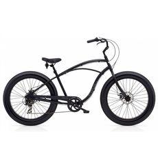 "Велосипед 26"" Electra Cruiser Lux Fat Tire 7D Men's Matte Black (SKD-01-50), фото 1"