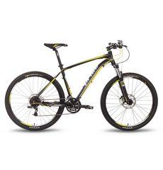 """Велосипед 27,5"""" Pride XC-650 RL рама - 19"""" черно-желтый матовый 2016, фото 1"""
