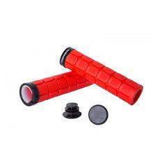 Грипсы Green Cycle GC-G219 130mm вспененная резина, с одним замком красные (GRI-54-87), фото 1