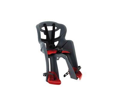 Сиденье переднее Bellelli Tatoo Sportfix до 15кг, серое с красной подкладкой (SAD-25-B2), фото 1