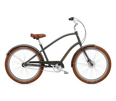 "Велосипед 26"" Electra Townie Balloon 3i Men's army Grey (BIC-17-64), фото 1"
