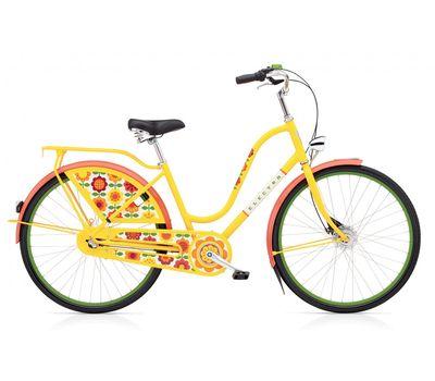 "Велосипед 28"" Electra Amsterdam Fashion 3i Forget Me Not Ladies' Yellow (SKDU-28-36), фото 1"
