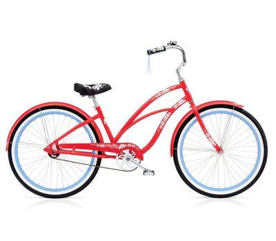 "Велосипед 26"" Electra Hawaii Custom 3i (Alloy) Ladies' Red (BIC-18-91), фото 1"