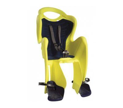 Сиденье заднее Bellelli Mr Fox Clamp (на багажник) до 22кг, неоново-жёлтое с чёрной подкладкой (Hi Vision) (SAD-98-11), фото 1