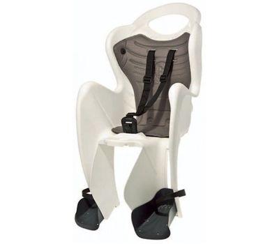 Сиденье заднее Bellelli Mr Fox Clamp (на багажник) до 22кг, белое с красной подкладкой (SAD-25-85), фото 1