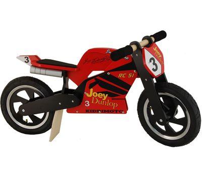 """Беговел 12"""" Kiddimoto Heroes деревянный, с автографом Joey Dunlop TT (SKD-79-46), фото 2"""