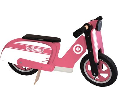 "Беговел 12"" Kiddimoto Scooter деревянный, розово-белый (SKD-43-34), фото 2"
