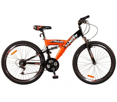 """Велосипед Ranger Texas DS Черный-красный (рама 16""""), фото 1"""