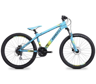 Велосипед Ghost 4-X COMP blue/black/lime green 2014, фото 1