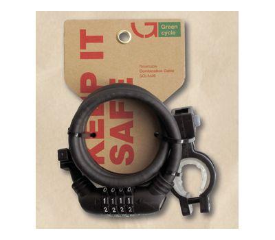 Кодовый замок Green Cycle GCL-А600 в силиконовой обойме с тросом 10x150cm, черный (LCK-71-95), фото 1