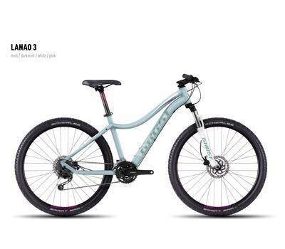 Велосипед Ghost Lanao 3 mint/darkmint/white/pink XL 2016, фото 1