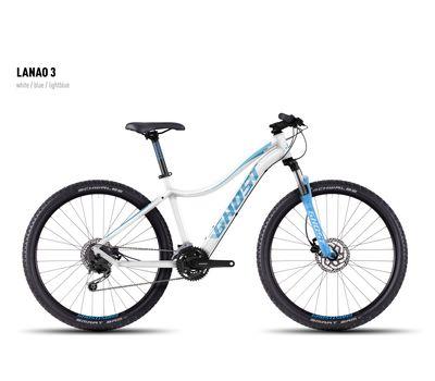 Велосипед Ghost Lanao 3 white/blue/lightblue XL 2016, фото 1