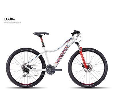 Велосипед Ghost Lanao 4 white/red/darkred/blue XL 2016, фото 1