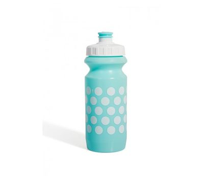 Фляга 600ml Green Cycle Polka Dot с Big Flow valve, LDPE light blue nipple/white matt cap/ light blue matt bottle (BOT-88-36), фото 1