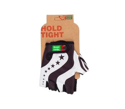 Перчатки Green Cycle NC-2343-2014 Light без пальцев черно-белые, фото 1
