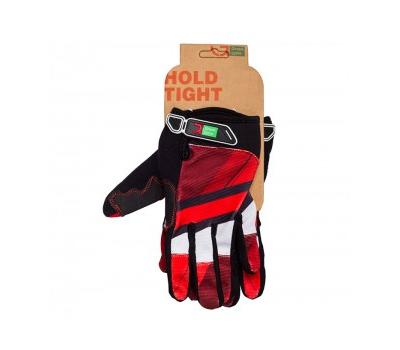 Перчатки Green Cycle NC-2566-2015 MTB с закрытыми пальцами красно-белые, фото 1