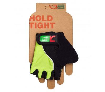 Перчатки Green Cycle NC-2530-2015 Kids без пальцев черно-зеленые, фото 1