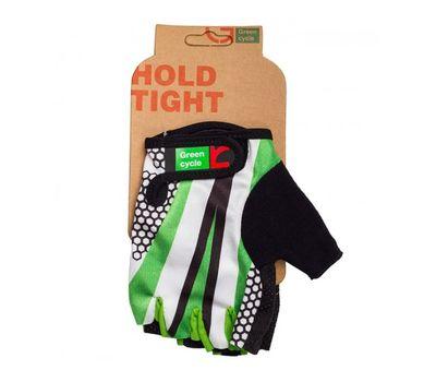 Перчатки Green Cycle NC-2540-2015 Light без пальцев бело-зеленые, фото 1