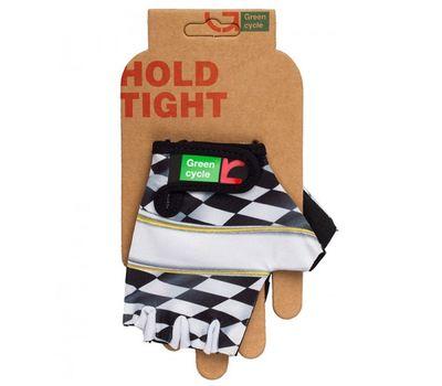 Перчатки Green Cycle NC-2138-2013 Kids без пальцев бело-черные, фото 1
