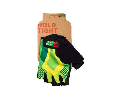 Перчатки Green Cycle NC-2535-2015 Light без пальцев зелено-желтые, фото 1