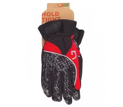 Перчатки Green Cycle NC-2409-2014 Winter с закрытыми пальцами черный-серый-красный, фото 1