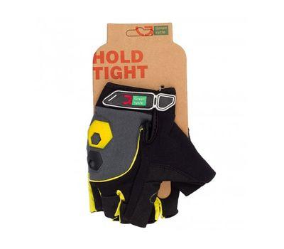 Перчатки Green Cycle NC-2503-2015 MTB Gel без пальцев черно-желтые, фото 1