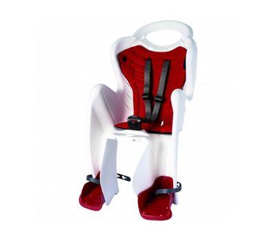 Сиденье заднее Bellelli Mr Fox Standart B-fix до 22кг, белое с красной подкладкой (SAD-25-35), фото 1