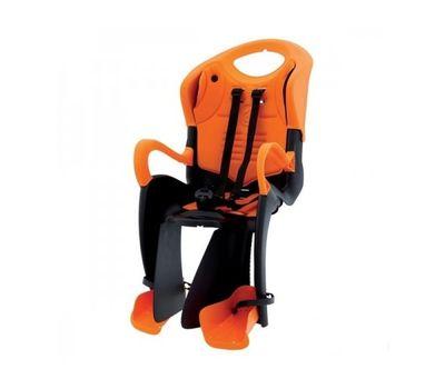 Сиденье заднее Bellelli Tiger Relax B-fix до 22кг, чёрно-оранжевое с оранжевой подкладкой (SAD-66-15), фото 1