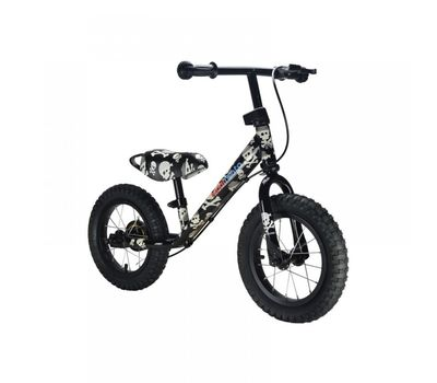 "Беговел 12"" Kiddimoto Super Junior MAX SUPER SKULLZ металлический (SKD-29-22), фото 1"