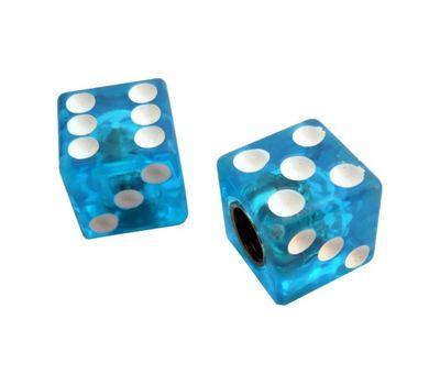 Колпачок для камеры TW V-11A Игральные кости из пластика, голубого цвета (в комплекте 4 шт) Автомобильного стандарта (CTU-85), фото 1